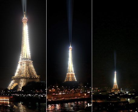 Eiffel Tower's new light show