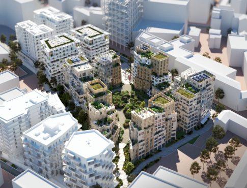 450 units housing project, Issy-les-Moulineaux